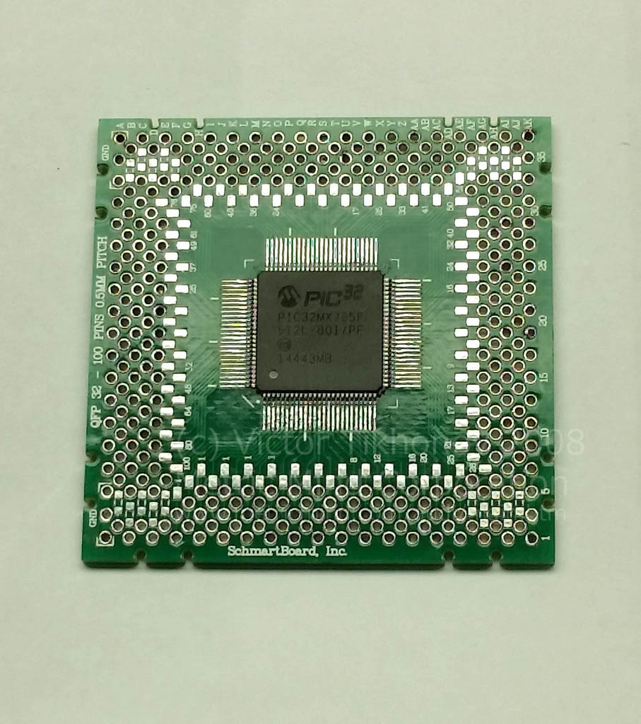 High End No Compromise Electric Vehicle Conversion Project Pics Photos Electronic Circuit Board Showing Wires And Microchips The Main Cpu For This As Mentioned Above Microchip Pic32mx795f512l Mounted On Special Schmart I Happen To Have